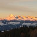 Západ slnka na Čiernom Váhu