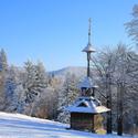 Dřevěná zvonička na Pustevnách