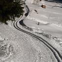 Běžecká stopa z Bílého kříže na Grůň .... Beskydy