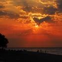 večerní pláž