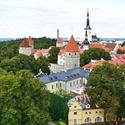 Hradní komplex Toompea – dnes sídlo estonského parlamentu (Riigikogu) a vlády.