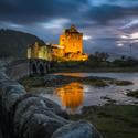 Večerní Eilean Donan castle