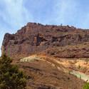 Skalní eroze a minerální hornina (ostrov Gran Canaria)