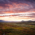 Sunset in the Rondane National Park