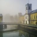 Ranní mlhy v zámeckém parku