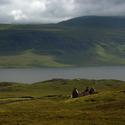 Opuštěné stavení na severu Skotska