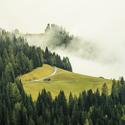 Mlhavé ráno v Dolomitech