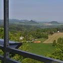 Pohled do Česko-Saského Švýcarska