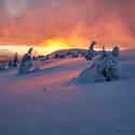 Zimní ráno na Zlaťáku