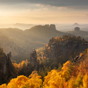 Podzimní Saské Švýcarsko