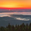 svítání nad Lipnem z Moldaublicku