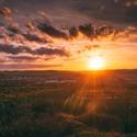 Západ slunce nad Krnovem