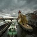 Všední šedivý pražský povltavský den