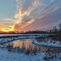 Západ slunce nad Odrou
