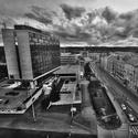 Pohled na Výstaviště Holešovice