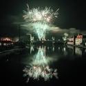 Novoroční ohňostroj v Brandýse nad Labem 2020