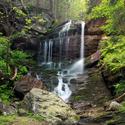 Vodopád na Rudohorském potoce