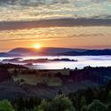 Východ slunce nad Beskydy