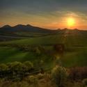 středohorský západ slunce