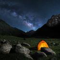 Zářivá noc v Kyrgyzstánu