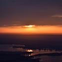 Západ Slunce nad přehradou