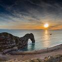 Skalní brána na jurském pobřeží