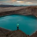 u kráteru na severu