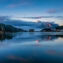 Brzké podzimní  ráno u jezera Misurina