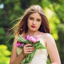 Dívka s květinami....