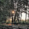 Svítání pod jezem Vlčavy