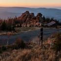 Západ slunce na Obřích skalách.