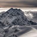 Inverze v Ötztalských Alpách