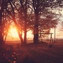Západ slnka v Orlických horách