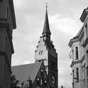 Evangelický kostel v podvečer