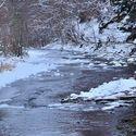 Zimní kouzla na řece.