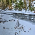 Dědina pod sněhem