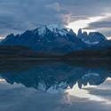 Torres del Paine po západu Slunce