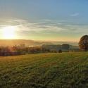 Západ slunce v Podkrkonoší