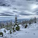 Pohled ze Suchého vrchu na Králické pohoří