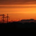 Západ slunce v dáli