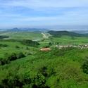 Výhled z Kostomlat p. Milešovkou
