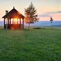 Západ slunce na velenovské vyhlídce