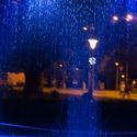 Noční kapky ve městě