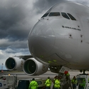 Airbus A380-800 Emirates a bouře Herwart