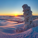 Východ slunce na Červené hoře