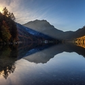 Horské jezero Langbathsee