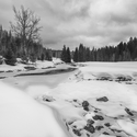 zima na Modravě-Roklanský potok