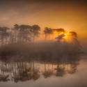 Svítání na Derryclare Lough