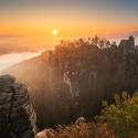 Podzimní mlhy v Bastei - Saské Švýcarsko