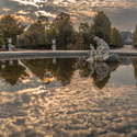 Podzimní ráno v Schönbrunnu